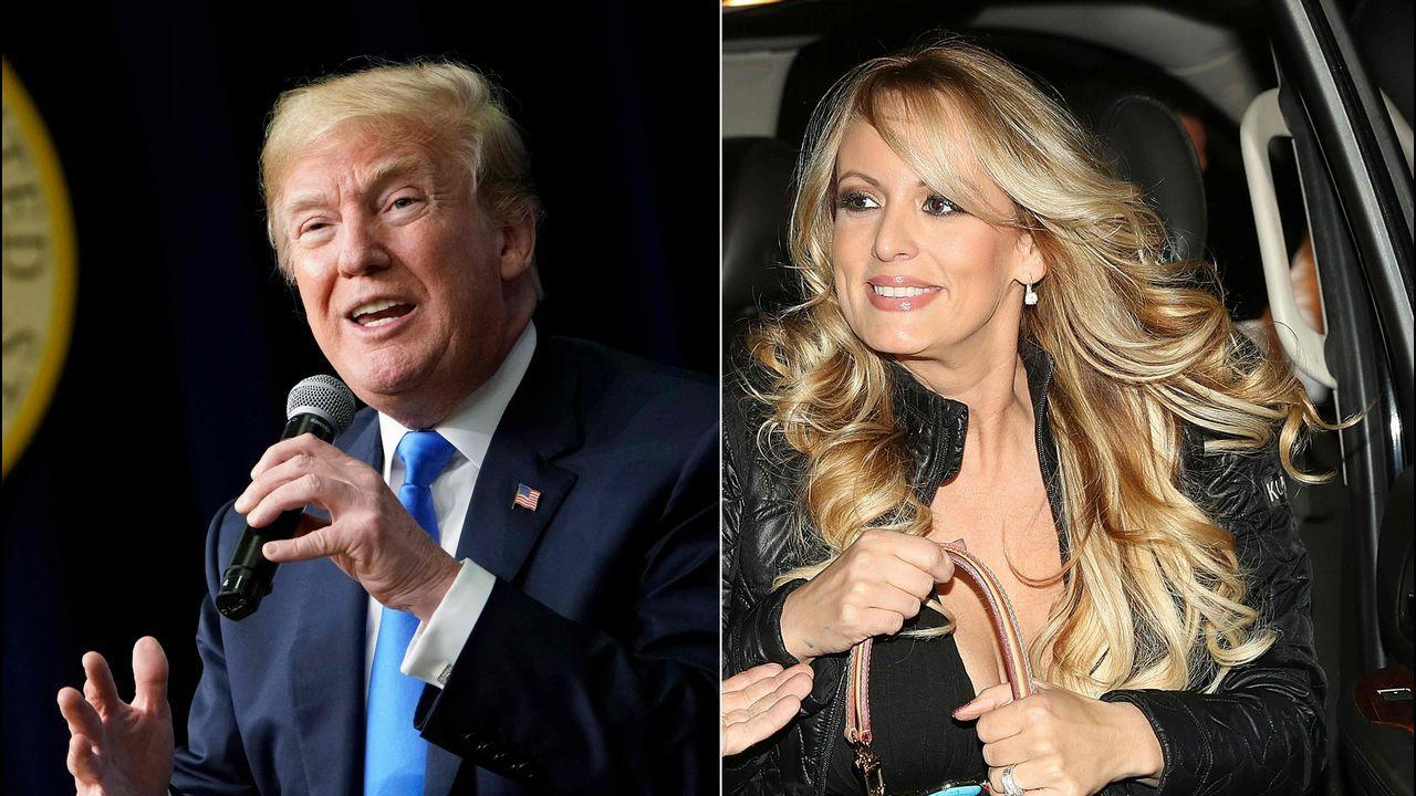 Donald Trump y Stormy Daniels