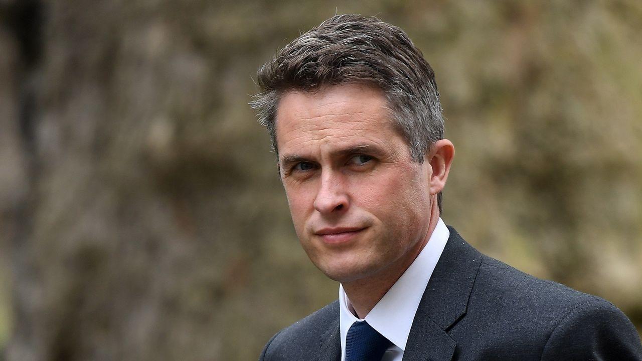 El ya exministro de Defensa británico, Gavin Williamson, a su llegada a la reunión de este miércoles en Downing Street