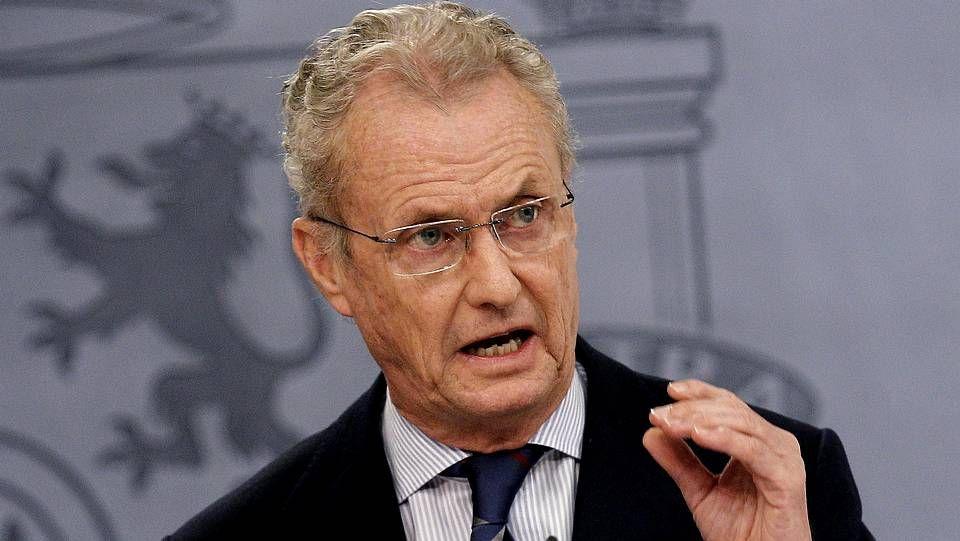 Pedro Morenés, en la comparecencia de este viernes tras el Consejo de Ministros.
