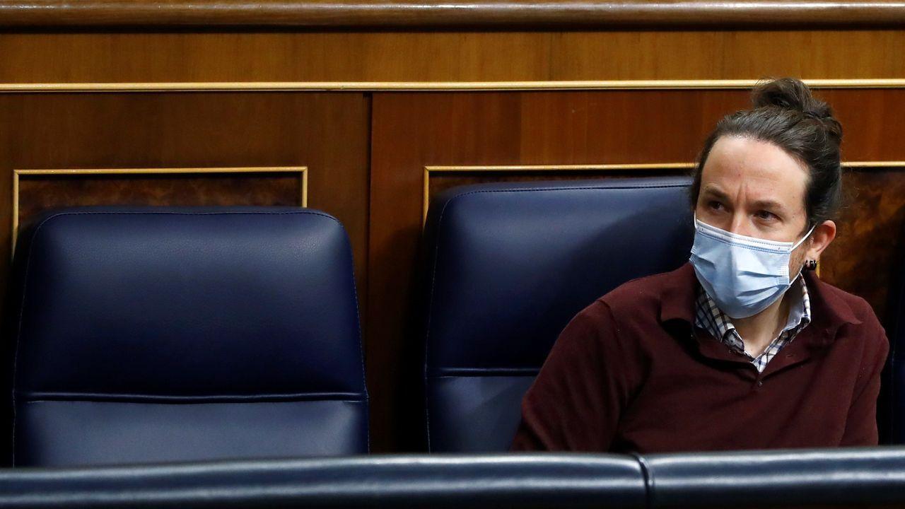 La diputada ourensana del PP Ana vázquez, durante su intervención este jueves en el pleno del Congreso
