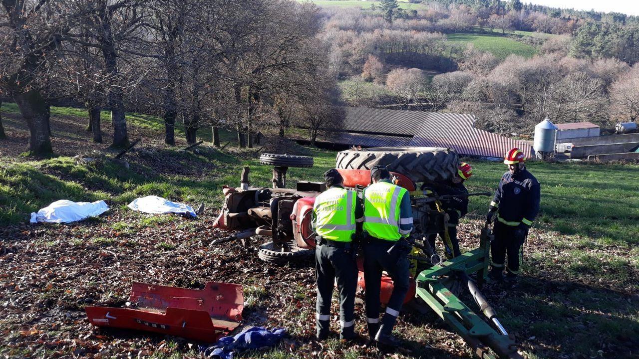 Uno de los accidentes de tractor más graves, con dos muertos, ocurrió en diciembre en Lalín