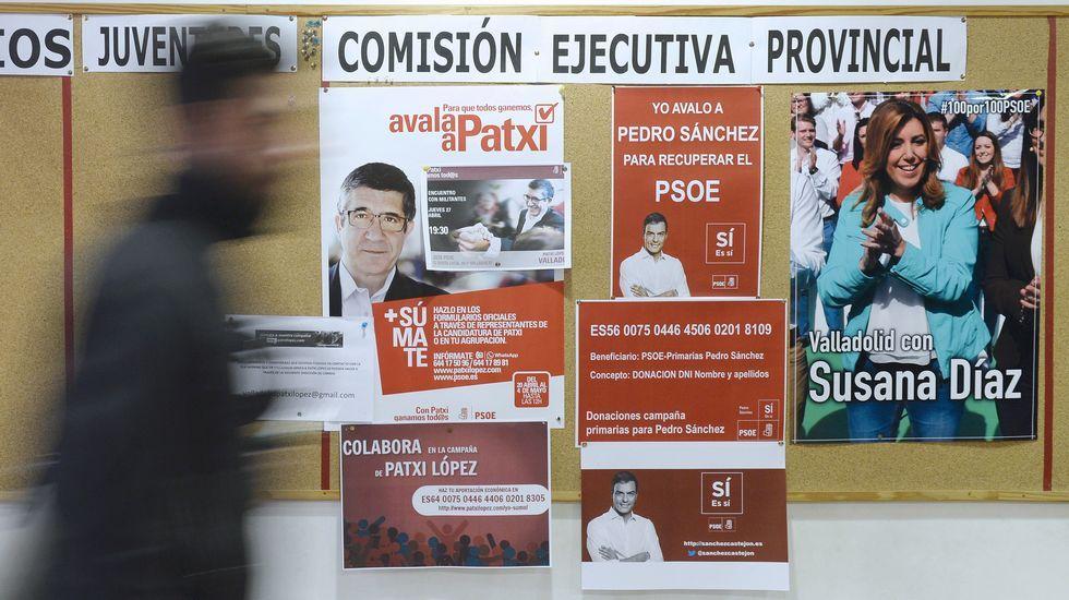 La batalla de los avales confirma la división en el PSOE.Iván Castro, Inés Rey y Agustín Fernández