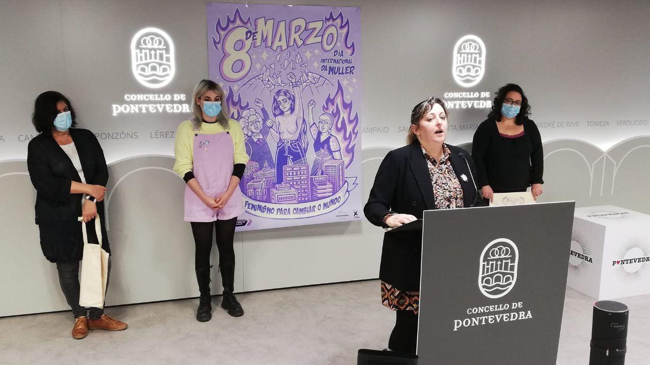 Presentación de la programación municipal para el 8M en Pontevedra