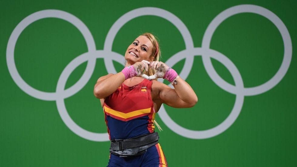 Lidia Valentín logró el bronce en la categoría femenina de los 75 kilos de halterofilia, tras levantar un total de 257 kg de peso