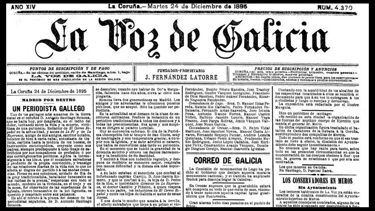 La Voz de Galicia del 24 de diciembre de 1895 recoge la primera petición para que la Muralla fuese monumento nacional