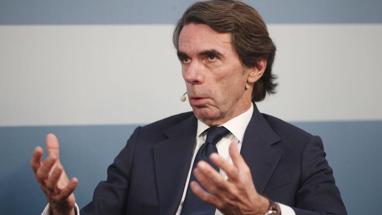 José María Aznar, en una reciente comparecencia pública