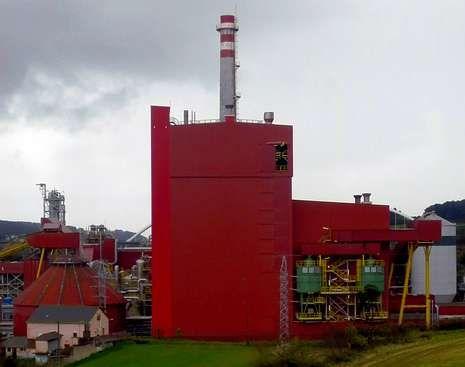 La fábrica de Navia, en la que Ence invirtió este año 12 millones.