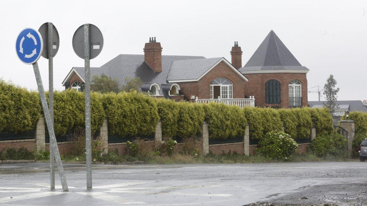 Vista de la mansión okupada