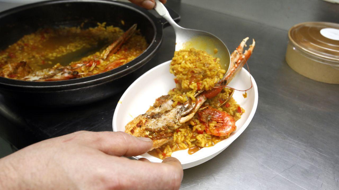 Una de las preparaciones del Restaurante España