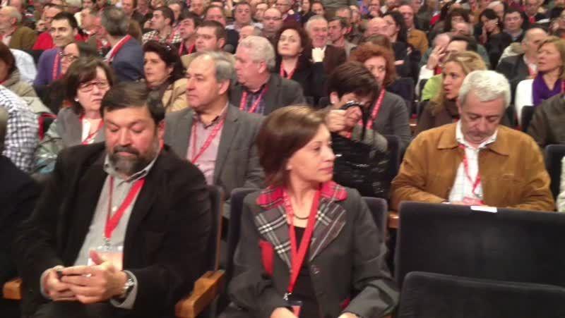 Arranca el Congreso del PSdeG.Luis Álvarez explicó en la asamblea sus proyectos para dinamizar la vida interna del partido.