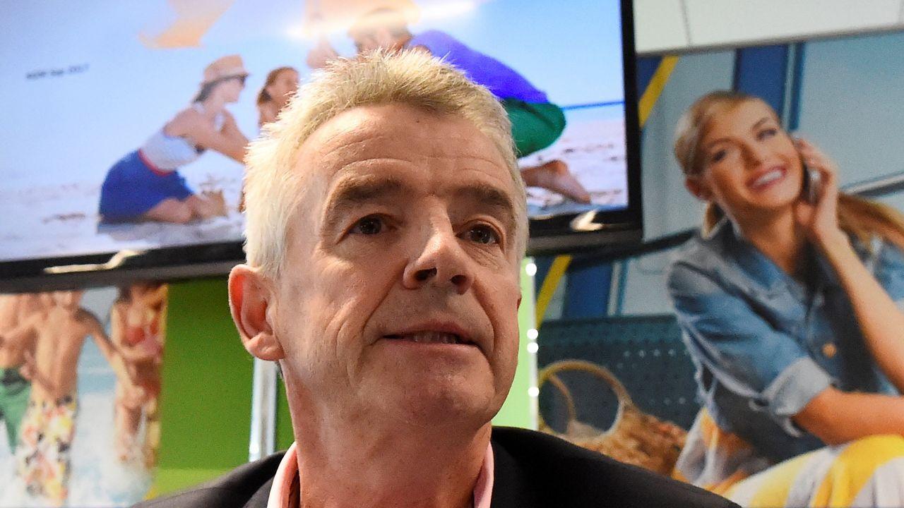 Pleno ordinario de septiembre el Ayuntamiento de Vigo.Michael O'Leary, durante una de sus visitas a España