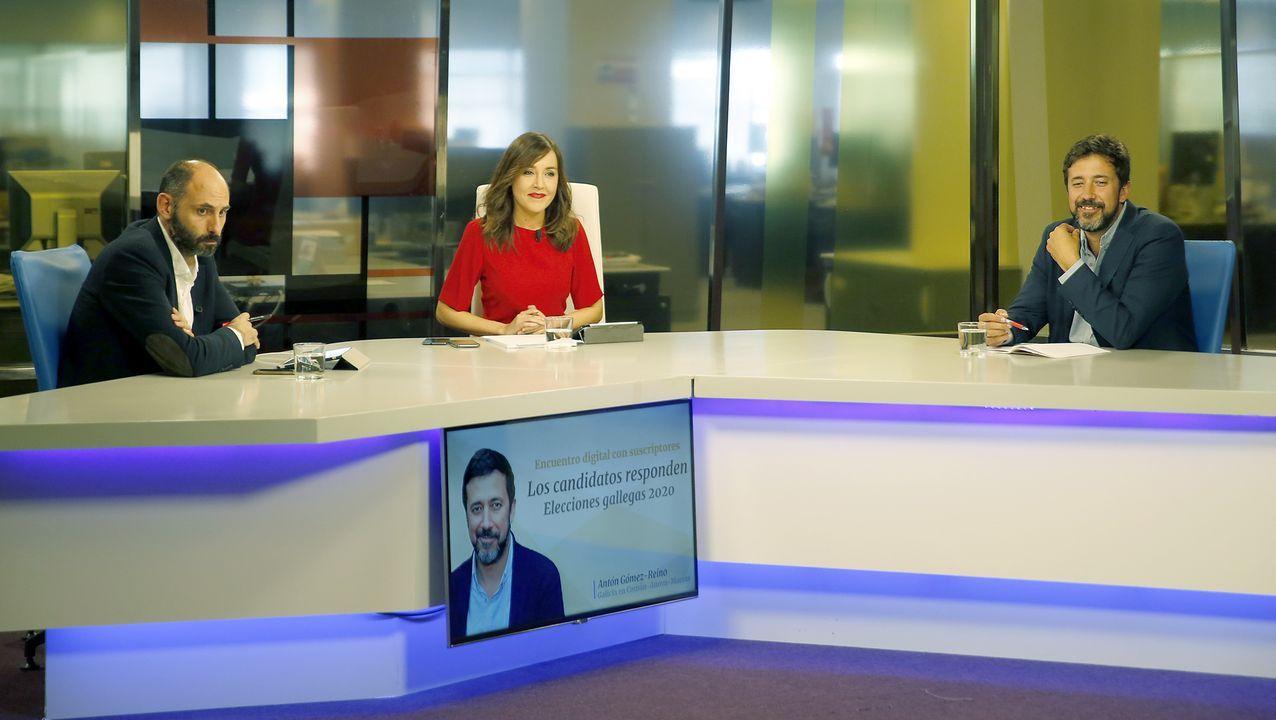 Encuentro con Antón Gómez-Reino.Mitin central del PP en Lugo