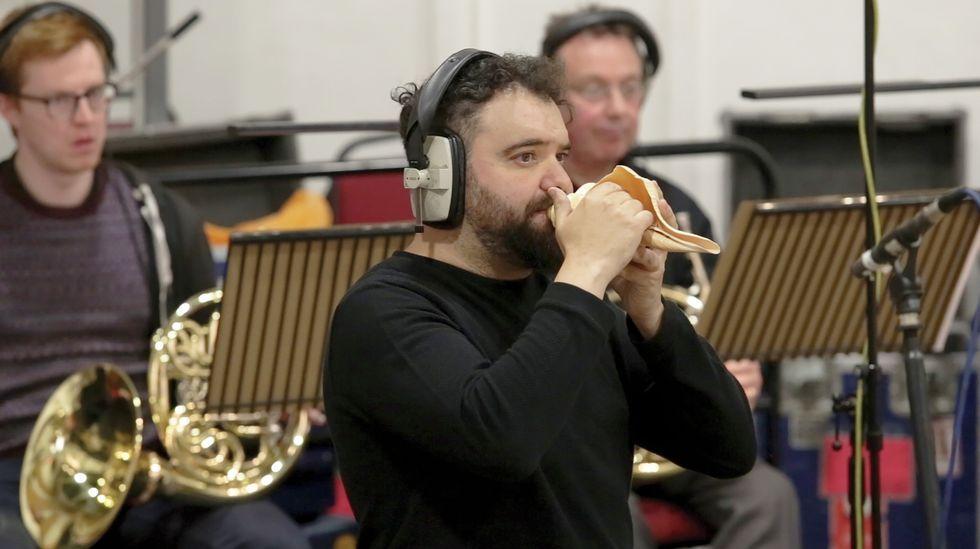 Cupeiro, gravando «Pangea» nos estudos de Abbey Road, en Londres