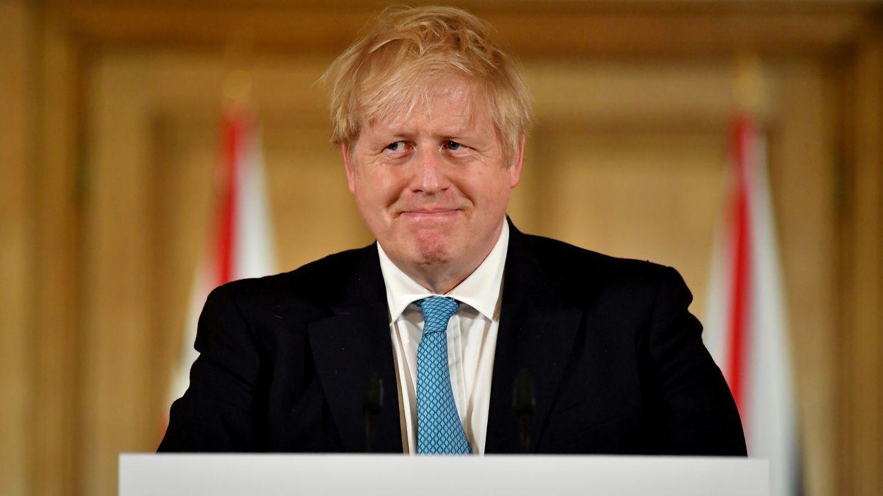 Boris Johnson, positivo en coronavirus.El primer ministro Boris Johnson