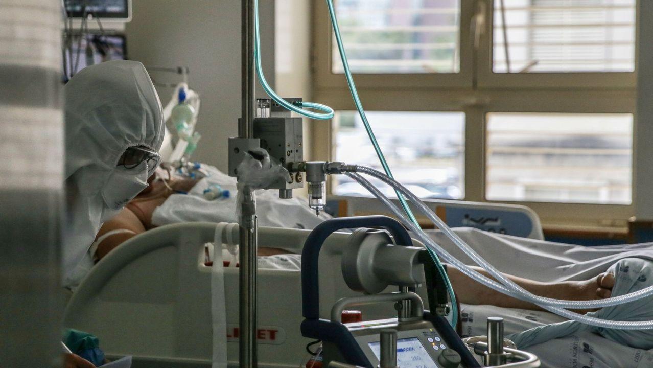 Un paciente con covid, en un hospital de Lisboa
