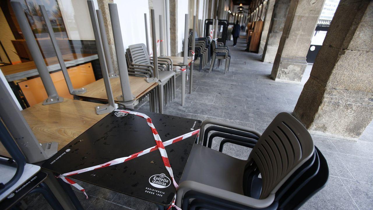 terrazas precintadas en A Coruña por el covid-19