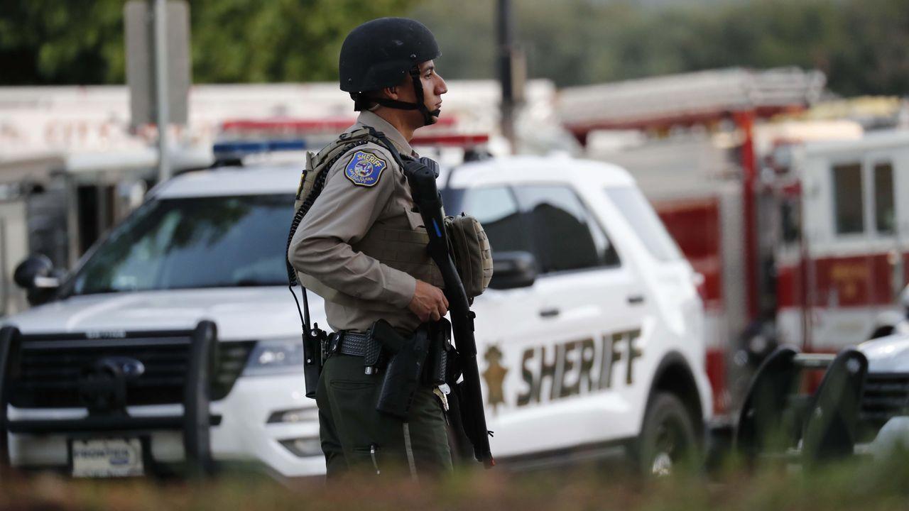 Un policía armado norteamericano, en una imagen de archivo