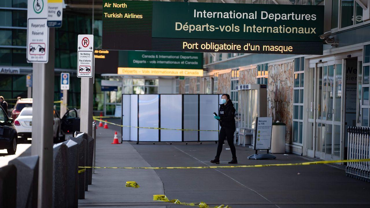 Exterior del aeropuerto de Vancouver, donde tuvo lugar un tiroteo