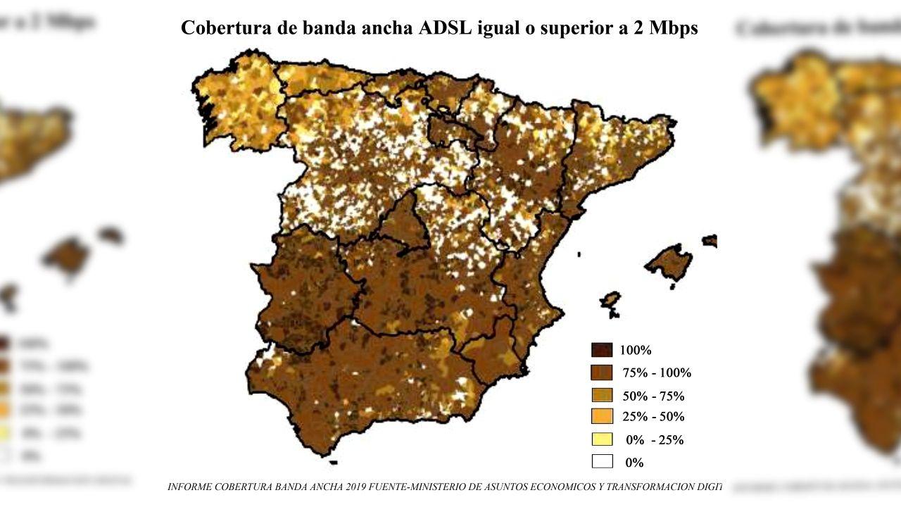 Mapa de la cobertura de banda ancha