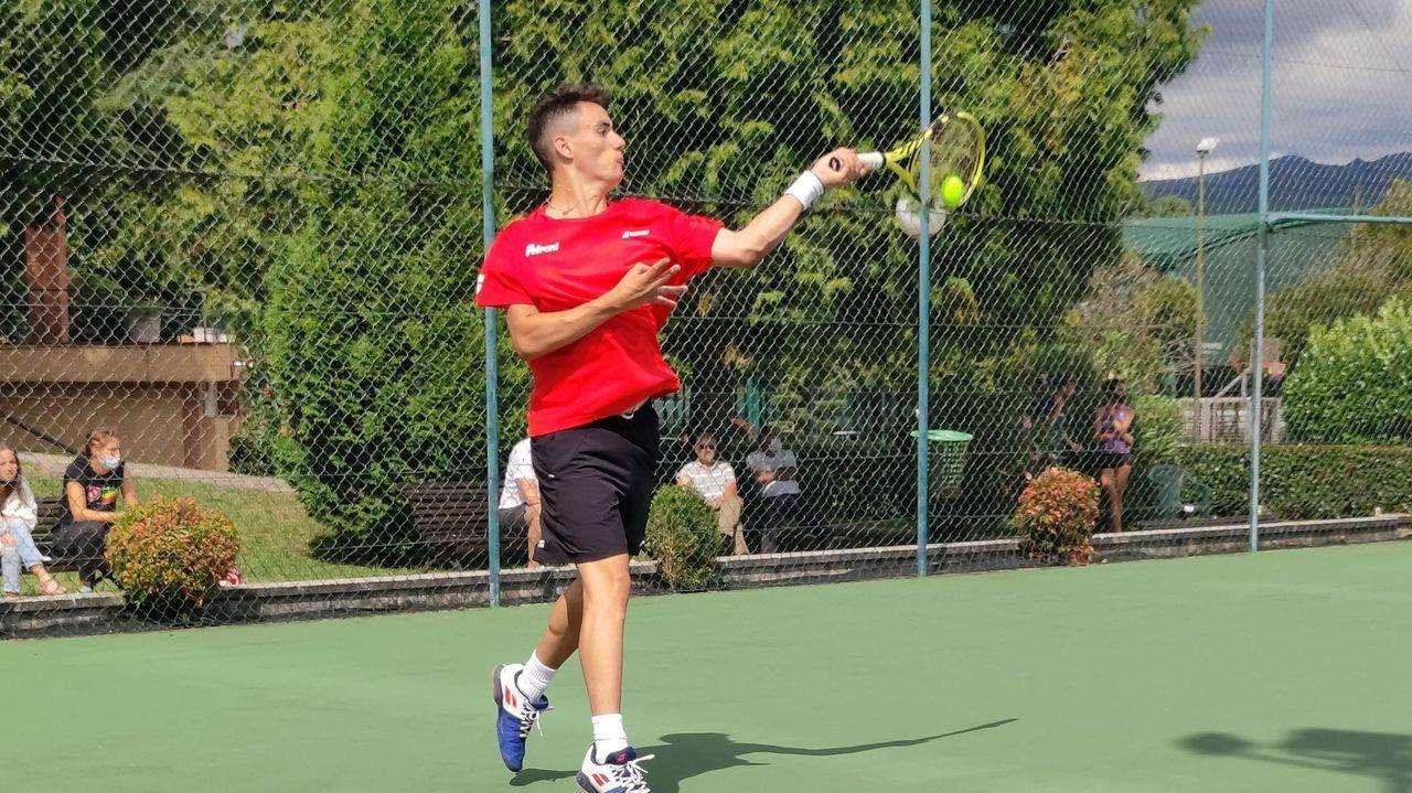 David Cao en su partido de cuartos de final