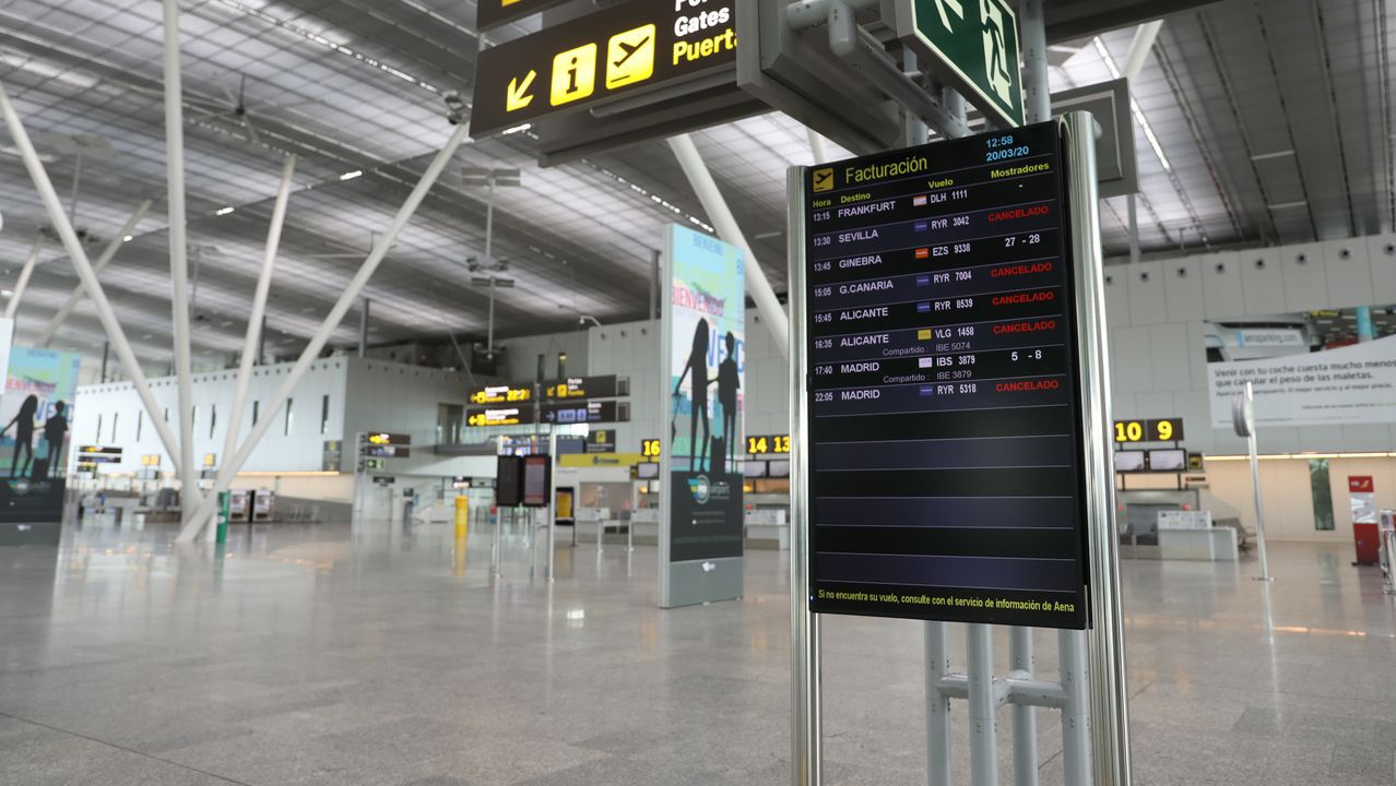 Aeropuerto de Peinador, vacío