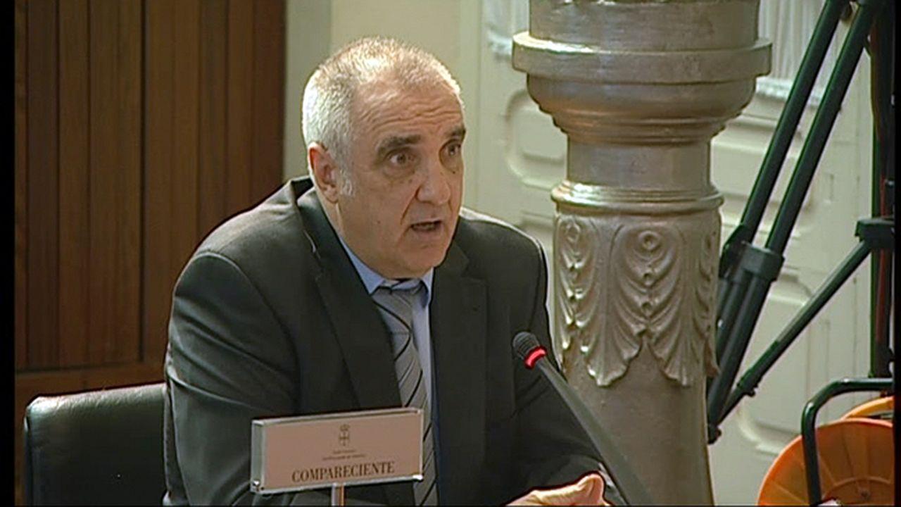 Victorino Alonso en una comparecencia en la Junta General del Principado