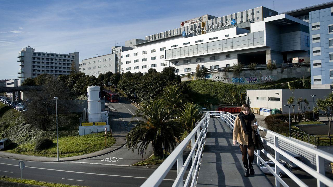 PRESENTACIÓN DEL CLUB DE EMPRESARIOS Y EJECUTIVOS DE GALICIA (CEEG).Chuac. Vista del núcleo central del Complexo Hospitalario Universitario A Coruña