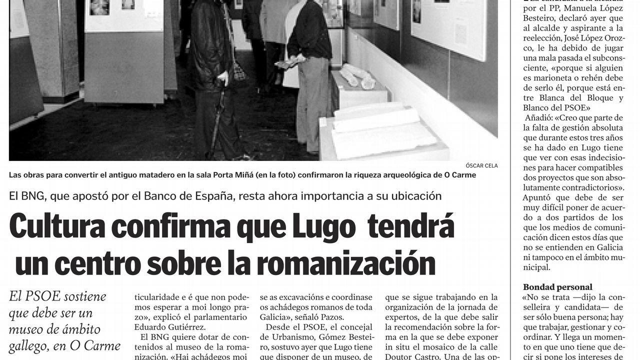 Página de La Voz de Galicia del 24 de septiembre del 2002