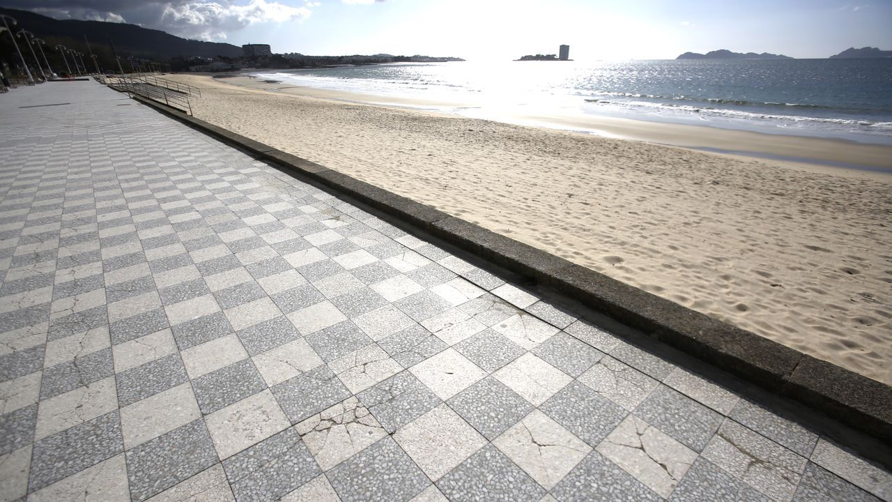 Praia de Samil (Vigo).