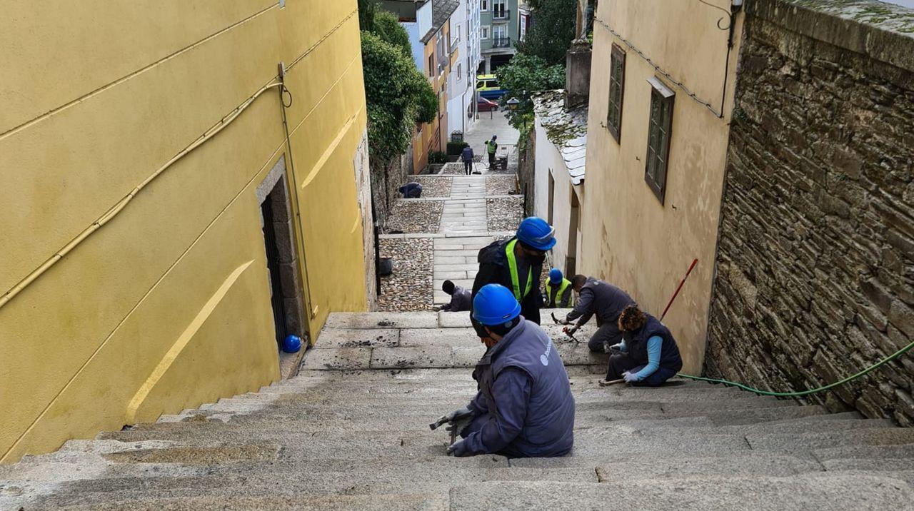 La escalinata es un paso histórico para los peregrinos
