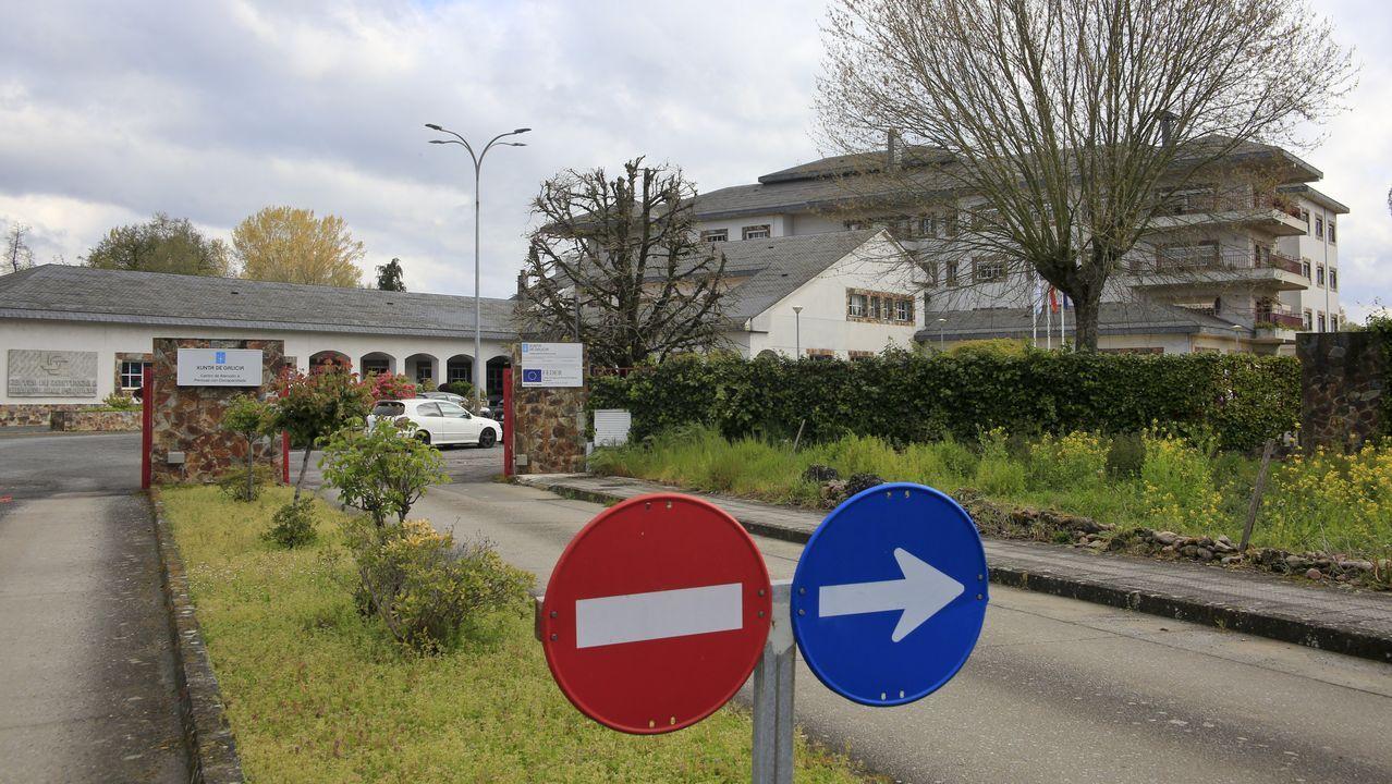 Exterior del CAPD de Sarria, donde hubo siete casos de usuarios con el virus y nueve trabajadores infectados