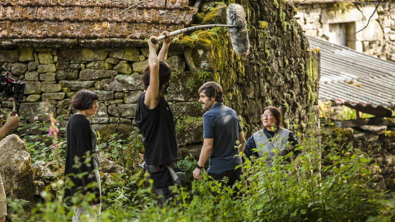 Polos miradoiros da provincia de Ourense.Detalle da rodaxe do filme de Zarauza «Malencolía».