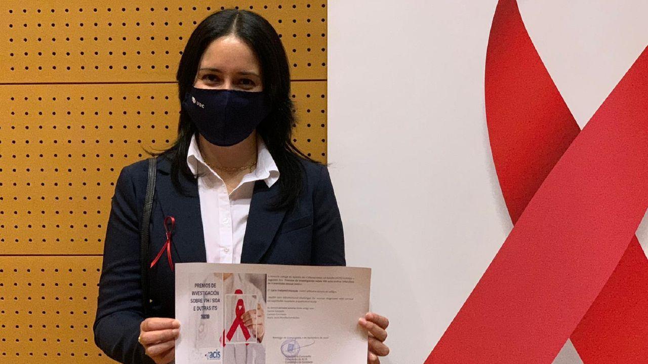 Carla Freijomil recogió el premio en Santiago