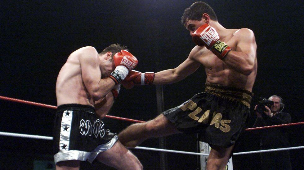 Padre e hijo comparten nombre y afición, como demuestran en el ring del Olympus.