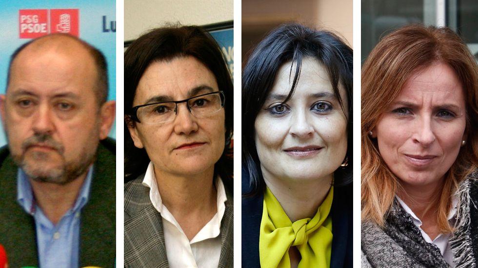 Ricardo Varela, Margarita Pérez, Laura Seara y Teresa Taboada