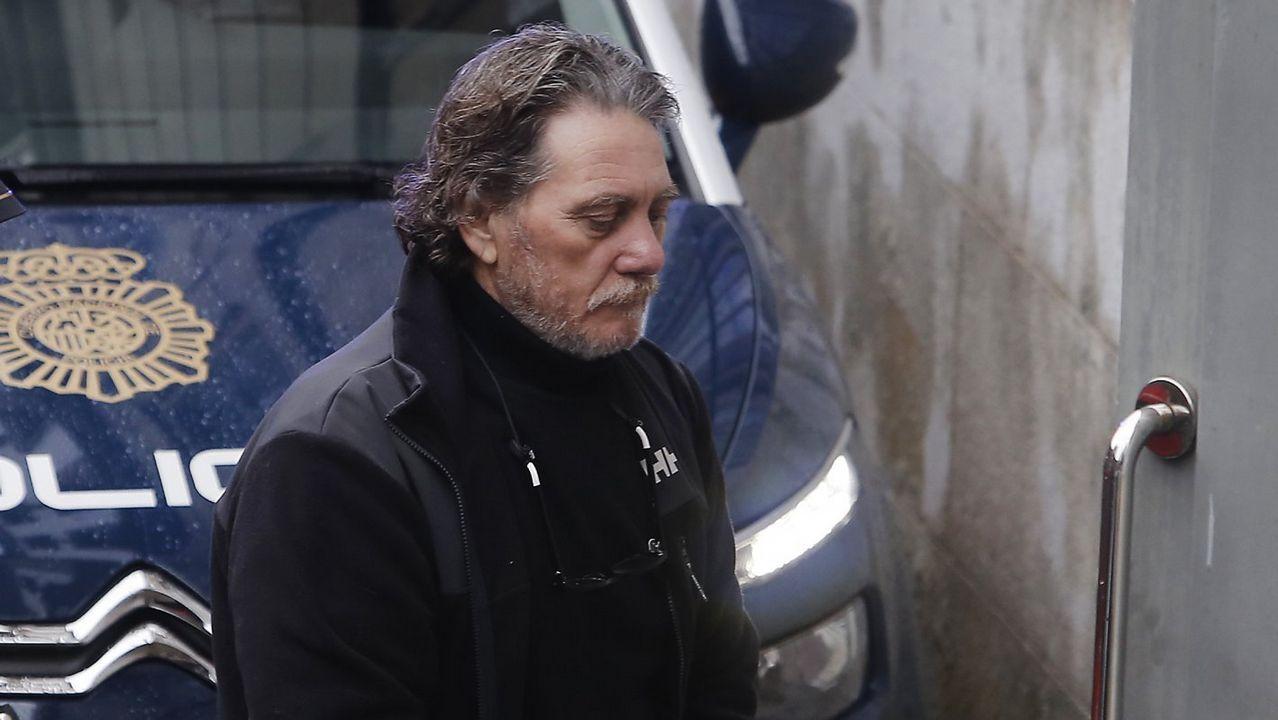 La otra vida de Miñanco en Marbella y Algeciras.José Alberto Aguín en 1993, a la salida de un juicio en la Audiencia Nacional
