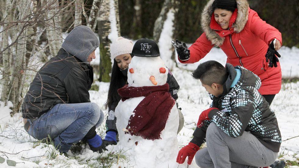 Primera nevada del año en la provincia de Lugo