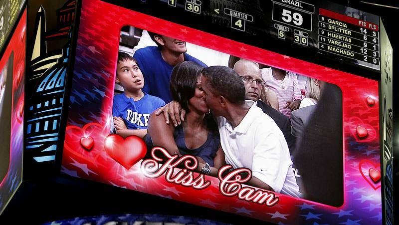 El beso presidencial