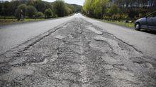 Así es el aspecto de la carretera nacional que une Lugo y Ourense