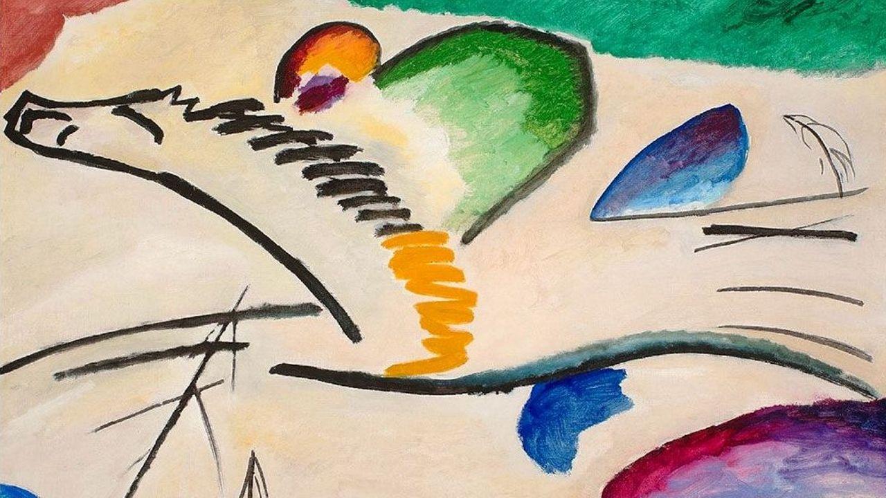 «Lírica» (1911), de Vasily Kandinsky. Museo Boymans van Beuningen (Róterdam)