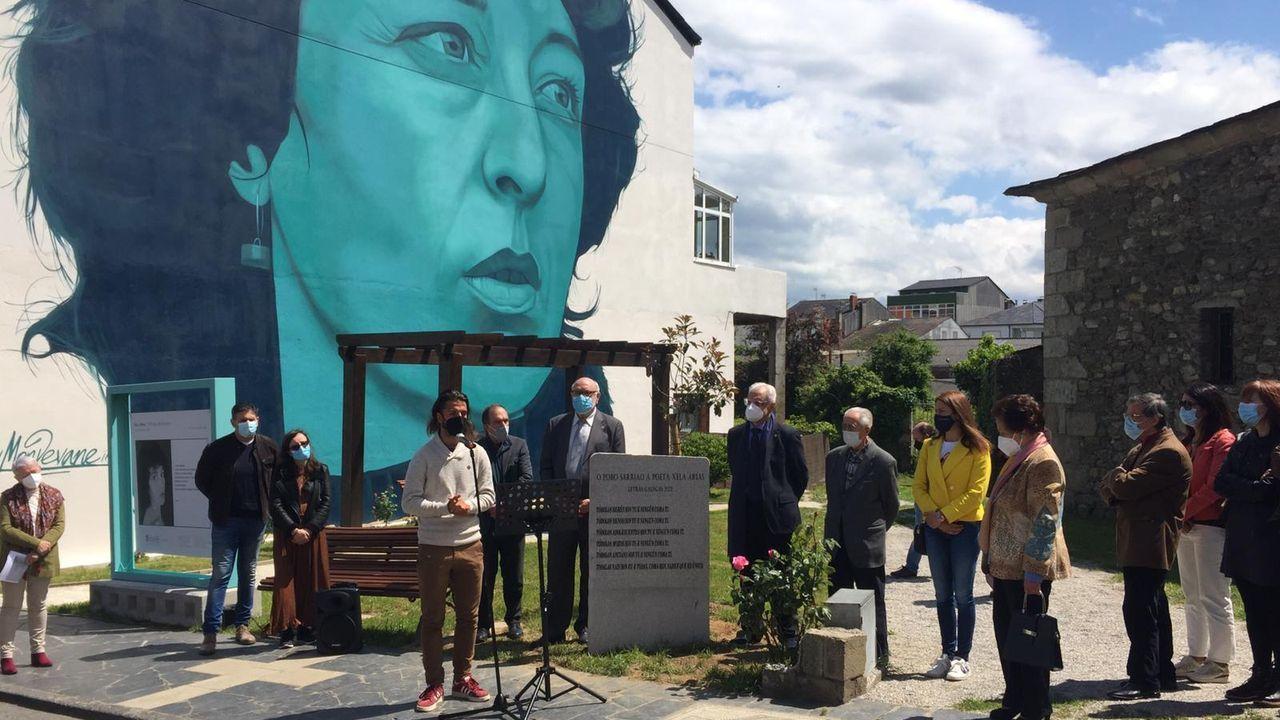 Na homenaxe en Sarria a Xela Arias participou o seu fillo
