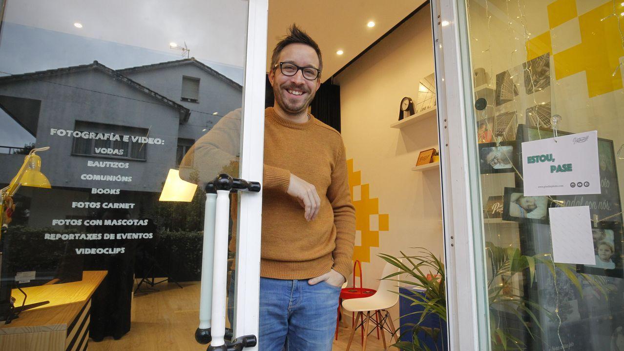 Tres semanas vivindo en galego.El líder de Vox, Santiago Abascal durante un acto electoral