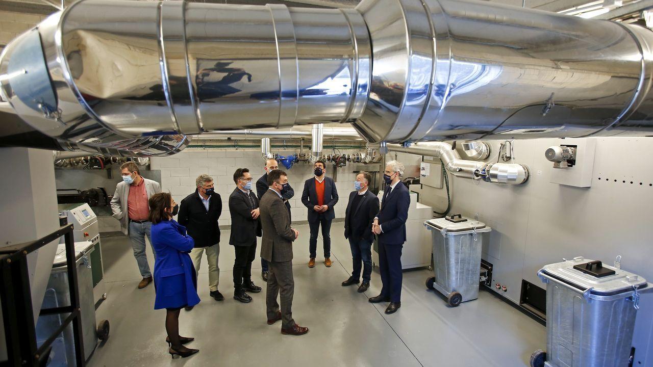 La planta de biomasa del campus de Pontevedra está ubicada en la Facultade de Ciencias Socias e da Comunicación