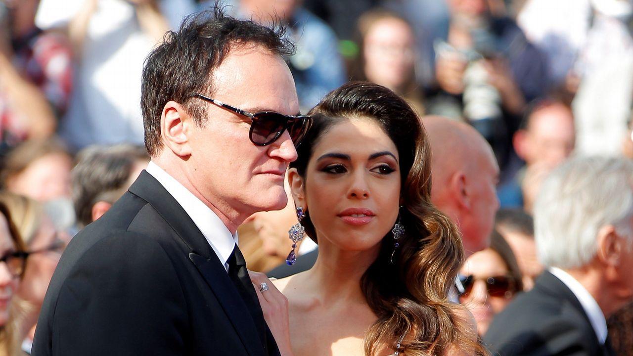 El cineasta estadounidense Quentin Tarantino y su esposa, la cantante israelí Daniella Pick