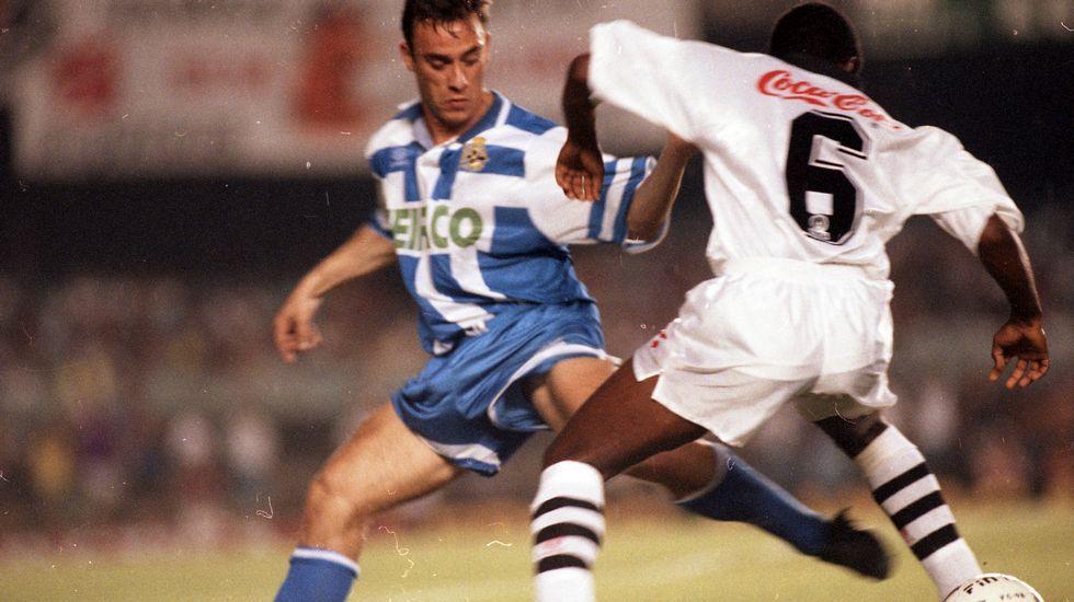 Arsenio da órdenes a Sabin Bilbao.