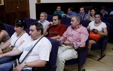 Eligio Nieto, Julio Vázquez y José Luis Gavilanes aportaron su opinión sobre la actualidad del club .
