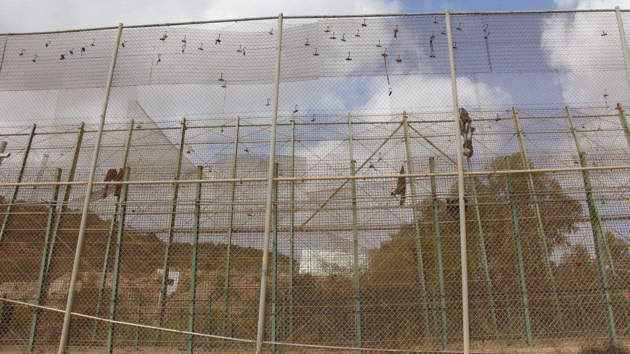 Imagen de la valla fronteriza de Ceuta