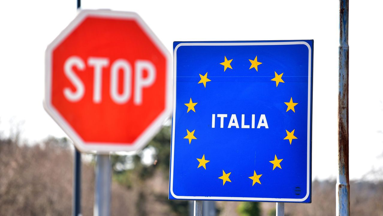 Frontera de Italia con Eslovenia