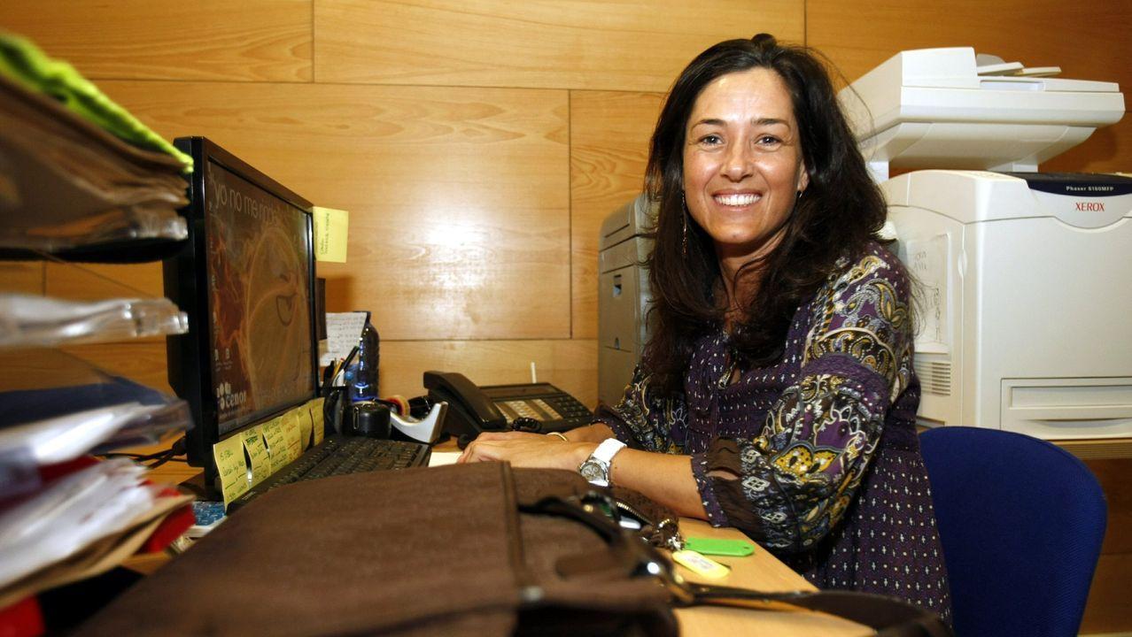 Ana Cepeda, en una fotografía del año 2011, cuando trabajaba en el Obradoiro