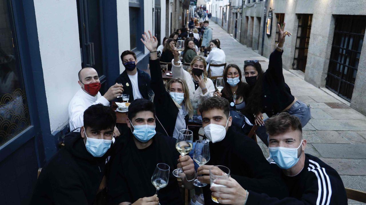 Terraza en Santiago de Compostela este sábado